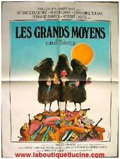 LES GRANDS MOYENS Affiche Cinéma / Movie Poster EXBRAYAT DIEUDONNE ILL. FERRACCI