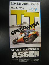 Flyer 56e Dutch TT Assen 23 - 28 juni 1986
