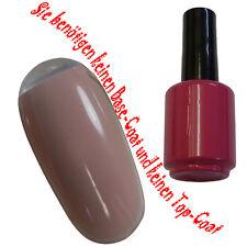 UV Polish Soak Off Gel Nail Art Nagellack Farbe # Leather