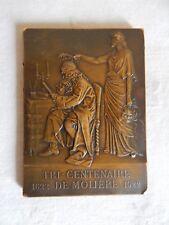 Médaille en Bronze Tri-Centenaire de Molière 1622-1922 - Prud'homme - MdP