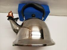 """Michael Graves """"Bells and Whistles"""" 2 quart stainless steel teapot"""