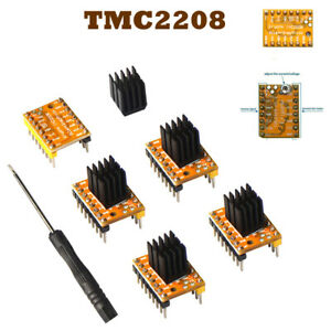 5pcs TMC2208 V1.2 Stepper Motor Driver for 3D Printer With Heat Sinks StepStick