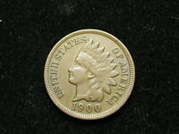 ESTATE SALE COIN AU 1900 INDIAN HEAD CENT PENNY w/ FULL LIBERTY & DIAMONDS #101v