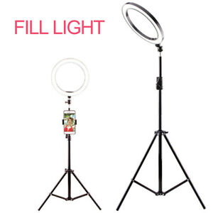 """6"""" Dimmable Ring Light Video Studio Photo Lamp Tripod Stand Selfie Camera Live"""