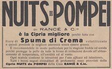 V0546 Cipria NUITS de POMPEI di Rancé - Pubblicità d'epoca - 1931 advertising