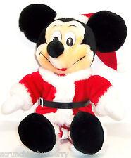 "New listing Disney Mickey Mouse Christmas Plush Toy 15"" Santa Claus Disneyland Theme Parks"