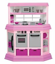 Kitchen For Kids Play Set Pretend Play Girls Pink Plastic Toy Deluxe Toddler NEW