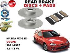 Pour Mazda MX3 Ec MX-3 1.6 1.8 Coupe 91-97 Frein Arrière Ensemble Disques + Pad