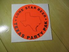 LONESTAR lone star Party Pak nos LOGO STICKER decal craft beer brewery brewing