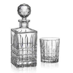 Bohemia Whisky-Set 6 Whiskygläser + Karaffe 24 % PbO Bleikristall Kristallglas