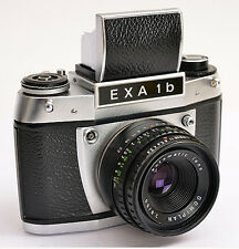 EXA 1b *Version 1 *Front chrom + Domiplan 2,8/50 automatic lens + Tasche  (0485)