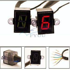 Universal LED N-6 Speed Digital Gear Indicator Motorcycle Shift Lever Gauge