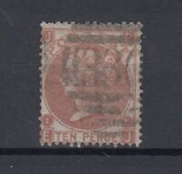 GB QV 10d Deep Red Brown Plate 1 Good Used JK1603