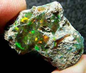 Ethiopian Opal Welo Rough * SEE VIDEO 15.05 CTs Bright 5/5 AAA Fire USA DEALER