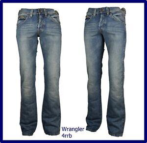 wrangler pantaloni jeans da uomo regular fit gamba dritta vita bassa svasati 44