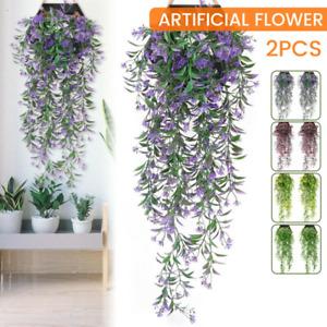 2X Artificial Ivy Flower Vine Garland Hanging Home Garden Trailing Basket Plant-