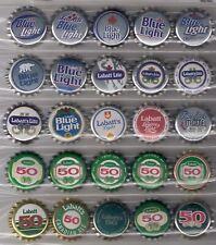 25 Different Unused Canadian Labatt Light and Labatt 50 Beer Caps 80's 90's