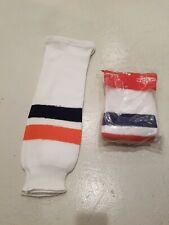 "Brand New Ccm Islanders Hockey Socks Pro-Weight Adult 28"""