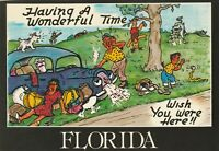 "*HUMOR-Florida Postcard-""Having a Wonderful Time...Wish You were Here"""