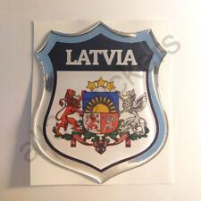 Sticker Latvia Emblem Coat of Arms Shield 3D Resin Domed Gel Vinyl Decal Car