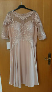Kleid für Brautmutter, altrosa, Gr.52, knielang, neu mit Etikett