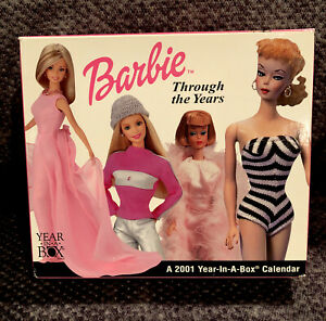 Barbie Calendar 2001 Barbie Through The Years Box Calendar NRFB MINT