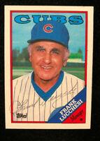 FRANK LUCCHESI 1988 TOPPS AUTOGRAPHED SIGNED AUTO BASEBALL CARD 564 CUBS