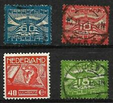 NETHERLANDS ..4  OLD AIRMAIL STAMPS..1921-1928 ..