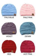 CC Beanie Unisex Hat Knit Oversized Thick Cap Adult Kids