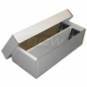 Bundle 25x BCW 1600 COUNT Shoe box Corrugated Cardboard Storage Boxes Case