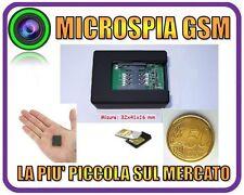 MICROSPIA AMBIENTALE GSM TELEFONO VOX MINI MICRO SPIA LA + PICCOLA DI SEMPRE!!!