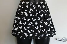 Supre Cute black and white birds pleated skirt with elastic size S #eBayMarket