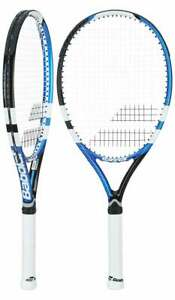 Babolat Drive Max 110 Strung Tennis Racket 117422 White Blue Black 4 3/8 Grip