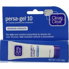 Clean & Clear Persa-Gel 10 Benzoyl Peroxide 10% Acne Gel 1oz
