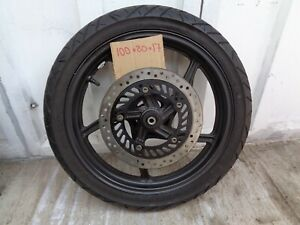 HONDA CBR125r FRONT WHEEL WITH DISC AND GOOD TYRE  .BREAKING COMPLETE BIKE