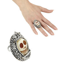 MEXICAN DAY OF THE DEAD SKULL RING WITH  STONE JEWELLERY HALLOWEEN