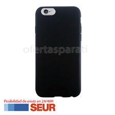 "Funda Silicona Negra Carcasa TPU para Iphone 6 Plus, 6S Plus 5.5"". Negro Mate"