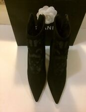 $1400 NWOT Absolutely Gorgeous & SEXY MANOLO BLAHNIK Black Lace Boots Shoes