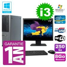 PC Dell 790 DT Intel I3-2120 8gb Disco 250Gb Grabador Wifi W7 Pantalla 19""