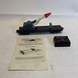 American Flyer 25046 Vintage S Rocket Launcher Car AC Gilbert USA