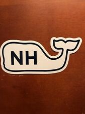 New Authentic New Hampshire Vineyard Vines Whale Sticker Laptop Yeti Car Decal