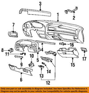 FORD OEM F-250 Instrument Panel Dash-Upper Molding Trim Right F6TZ15046A62AAA