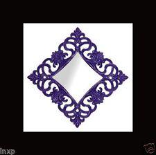 Espejo de pared 100 X100 Cuadrado barroco en Piano Púrpura Adornos WOW NUEVO