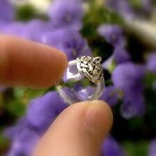 1 glass vial GLOBE w/sterling silver celtic knot caps 925/pendants/mini/bottles)