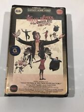 Willy-Wonka and the Chocolate Factory VHS-Warner Home Video Clamshell Gene-Wild