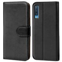 Book Case Samsung Galaxy A7 2018 Hülle Tasche Klapphülle Flip Cover Handy Schutz