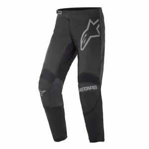 Alpinestars 2021 Adults Fluid Graphite Motocross MX Bike Pants - Black/ Grey