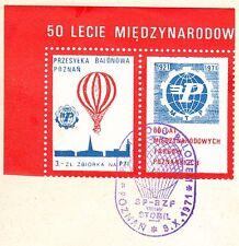 POLAND 1971.X.09 Ballon STOMIL, Mail Cat.44 Start POZNAN - SWIATNIKI landing