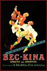 BEC KINA 1920 Aperitifs de Sportifs French Vintage Poster Print Wall Art Decor