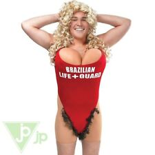 Hairy Mary Lifeguard Swimsuit Stag Do Outfit Funny Adult Fancy Dress Costume